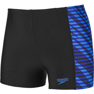 speedo Allover Panel Aquashorts Jungen black/blue black/blue