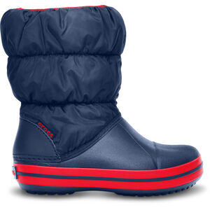 Crocs Winter Puff Boots Kinder navy/red navy/red