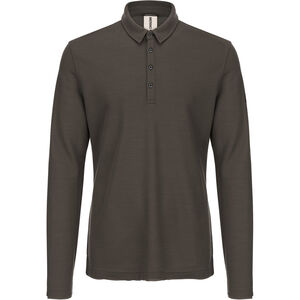 super.natural Piquet Langarm Polo Herren killer khaki killer khaki