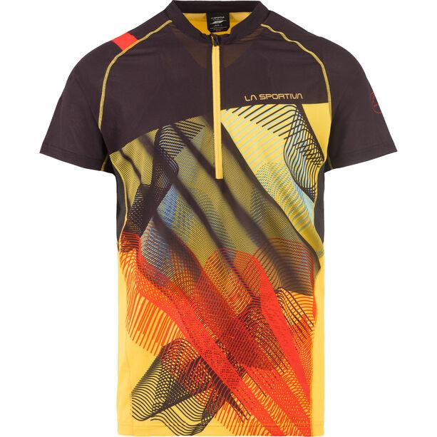 La Sportiva Xcelerator T-Shirt Herren black/yellow
