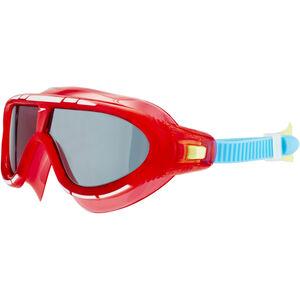 speedo Biofuse Rift Goggles Kinder lava red/japan blue/smoke