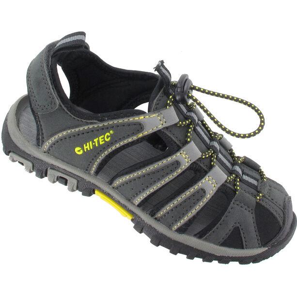 Hi-Tec Cove Sandals Kinder Black/Charcoal/Super Lemon