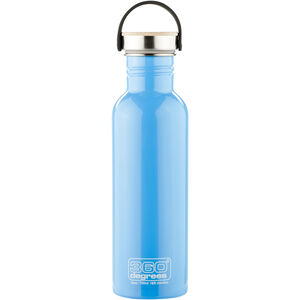 360° degrees Stainless Drink Bottle with Bamboo Cap 750ml sky blue sky blue