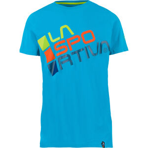 La Sportiva Square T-Shirt Herren tropic blue/apple green tropic blue/apple green