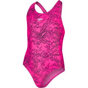 speedo Boom Allover Splashback Swimsuit Mädchen electric pink/black electric pink/black