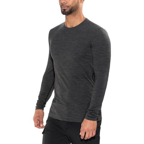 Icebreaker Anatomica LS Crew Shirt Herren jet heather/black