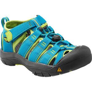 Keen Newport H2 Sandals Kinder hawaiian blue/green glow hawaiian blue/green glow