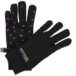Regatta Grippy Gloves Kinder black/camellia black/camellia