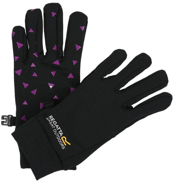 Regatta Grippy Gloves Kinder black/camellia
