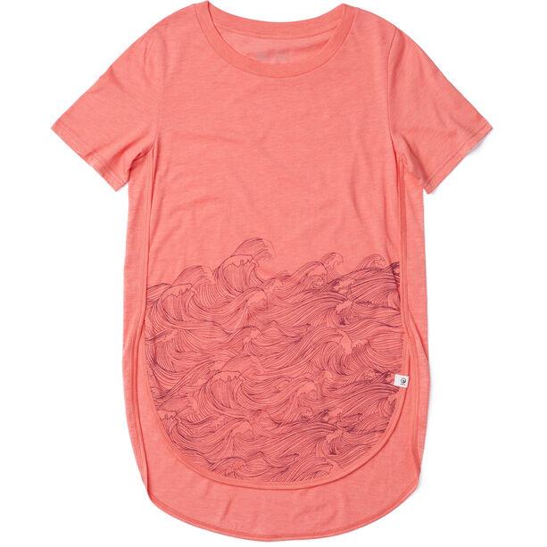 tentree Rising Sea T-Shirt Damen porcelain rose