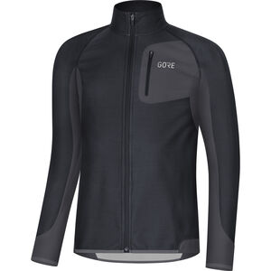 GORE WEAR R3 Partial Gore Windstopper Shirt Herren black/terra grey black/terra grey