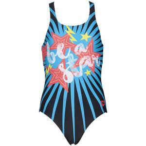 arena Vibes Swim Pro One Piece Badeanzug Mädchen black/turquoise black/turquoise