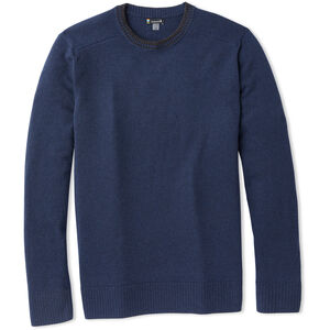 Smartwool Sparwood Rundhals-Sweater Herren deep navy/charcoal heather deep navy/charcoal heather
