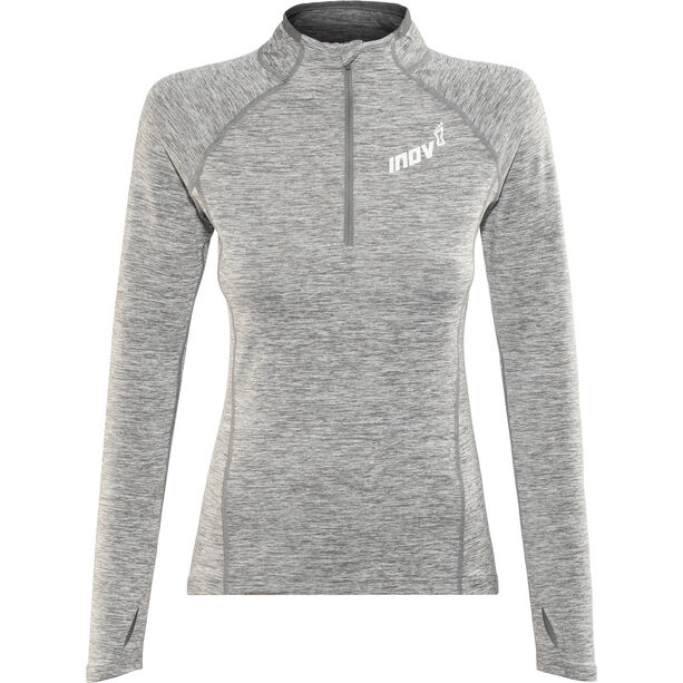 inov-8 Train Elite Mid LS Zip Langarmshirt Damen light grey