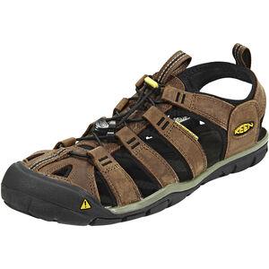 Keen Clearwater CNX Leather Sandals Herren dark earth/black dark earth/black