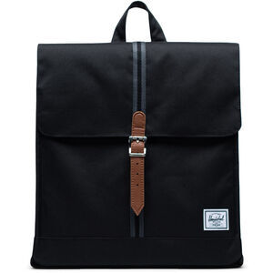 Herschel City Mid-Volume Backpack black/black/tan black/black/tan