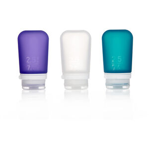 humangear GoToob 74ml 3er Pack transparent/violett/türkis transparent/violett/türkis