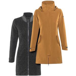 Bergans Oslo 3in1 Coat Damen outer:desertmel/inner:solidcharcmel outer:desertmel/inner:solidcharcmel