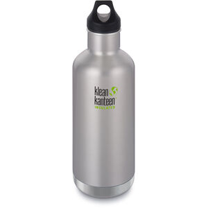 Klean Kanteen Classic Vacuum Insulated Bottle Loop Cap 946ml brushed stainless brushed stainless