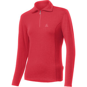 Löffler Basic Transtex Zip-Sweater mit Umlegekragen Damen flamenco flamenco