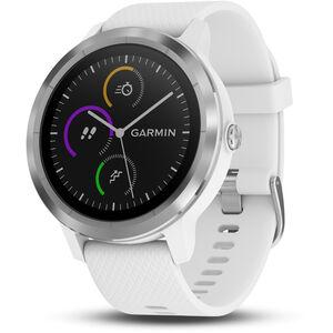 Garmin vívoactive 3 GPS Sportuhr mit weißem Silikonarmband edelstahl edelstahl