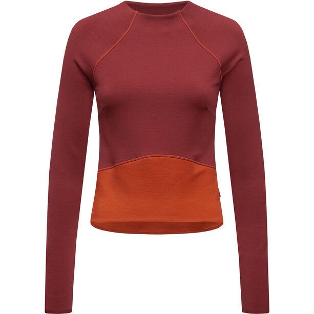 super.natural Super Crop Sweater Damen cabernet/bossa nova