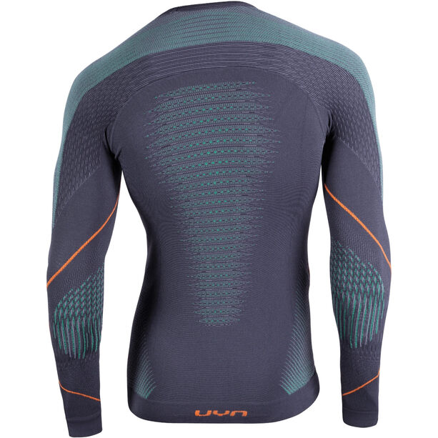 UYN Evolutyon UW LS Shirt Herren charcoal/green/orange shiny