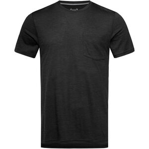 super.natural City T-Shirt Herren jet black melange jet black melange