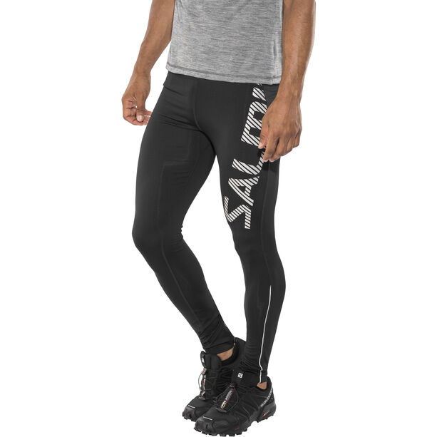 Salming Logo 2.0 Tights Herren black/silver