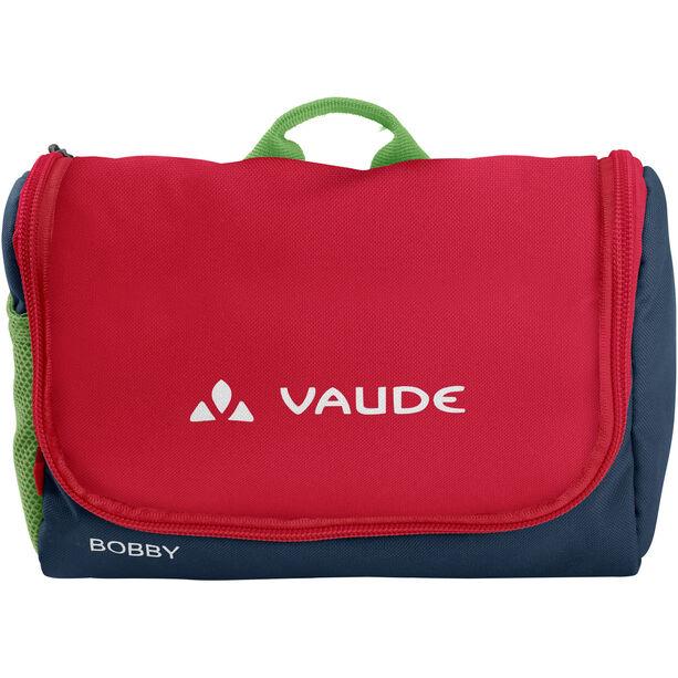 VAUDE Bobby Toiletry Bag Kinder marine/red