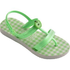 havaianas Joy Spring Sandals Mädchen white/hydro green fluor white/hydro green fluor