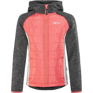 Meru Prag Gefütterte Strickfleece Jacke Kinder carbon/pink carbon/pink