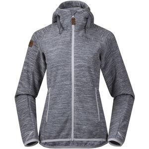 Bergans Hareid Fleece Jacket Damen aluminium melange aluminium melange