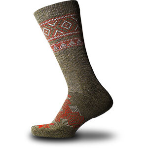 Thorlos Outdoor Traveler Crew Socks hazelnut/fire red hazelnut/fire red