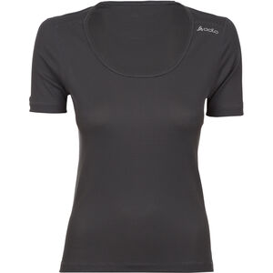Odlo Cubic Kurzarm Rundhalsshirt Damen ebony grey/black ebony grey/black