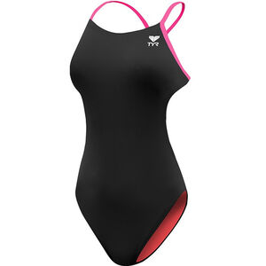 TYR Solid Cutoutfit Bathing Suit Damen black/pink black/pink
