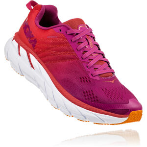 Hoka One One Clifton 6 Laufschuhe Damen poppy red/cactus flower