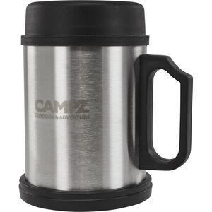 CAMPZ Thermo Edelstahlbecher 400ml schwarz/silber schwarz/silber