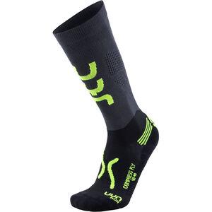 UYN Run Compression Fly Socks Herren anthracite/yellow fluo anthracite/yellow fluo