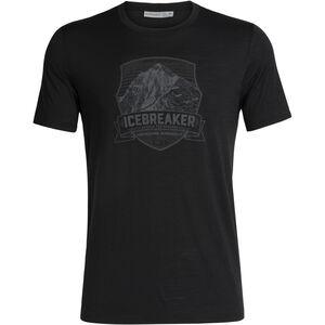 Icebreaker Tech Lite Everest Crest SS Rundhalsshirt Herren black black