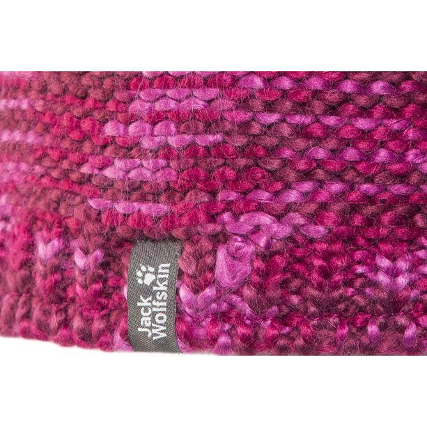 Jack Wolfskin Kaleidoscope Knit Cap Kinder fuchsia