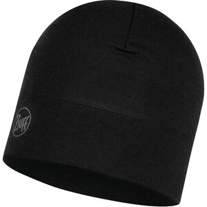 Buff Midweight Merino Wool Hat solid black solid black