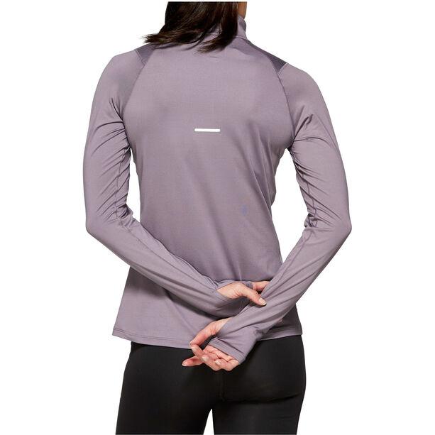 asics Thermopolis LS Half-Zip Hemd Damen lavender grey