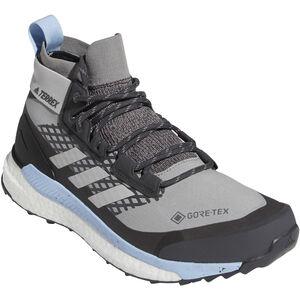 adidas TERREX Free Hiker GORE-TEX Wanderschuhe Damen chalk solid grey/grey two/glossy blue chalk solid grey/grey two/glossy blue