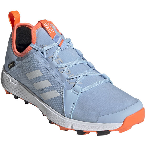 adidas TERREX Agravic Speed GTX Schuhe Damen glossy blue/footwear white/hi-res coral