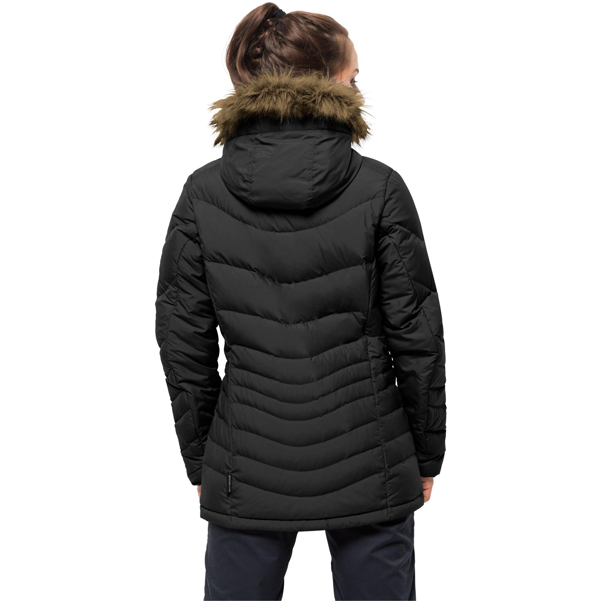 Wintermantel Jack Wolfskin Selenium Coat Schwarz Damen