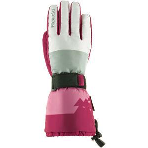 Roeckl Arlberg Ski Gloves Mädchen white/berry white/berry