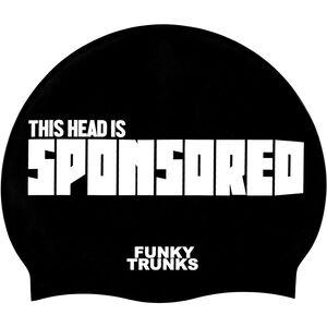 Funky Trunks Silicone Swimming Cap sponsored head sponsored head