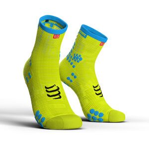 Compressport Pro Racing V3.0 Run High Socks fluo yellow fluo yellow