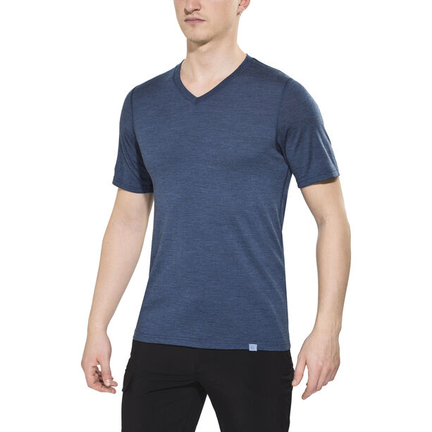 Bergans Bloom Wool T-Shirt Herren navy melange